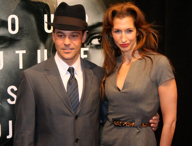 Alysia Reiner and David Alan Basche at 'The Adjustment Bureau' Premiere at Ziegfeld Theater, New York City in February 2011