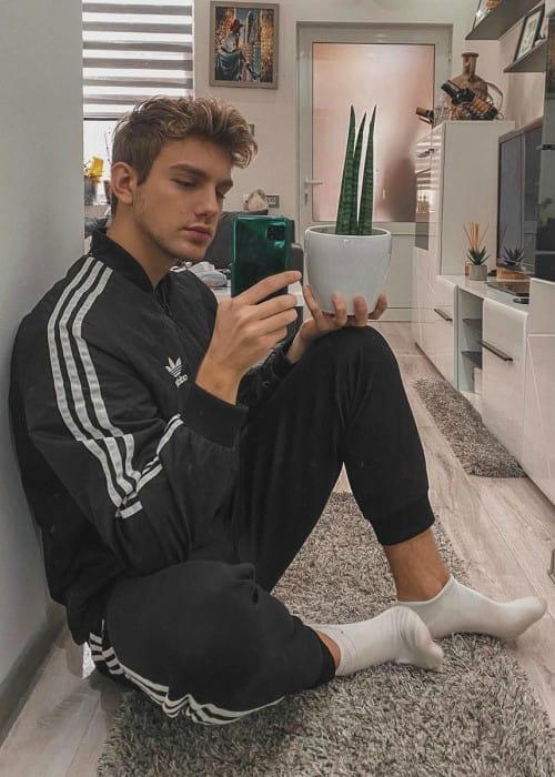 Andrija Jović in a selfie in April 2020