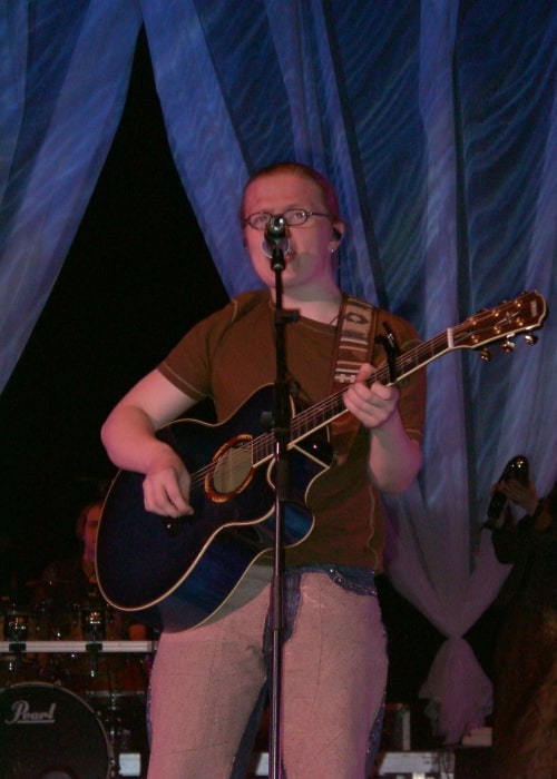 Angelo Kelly as seen in a picture taken in Munich during a live performance on January 5, 2002