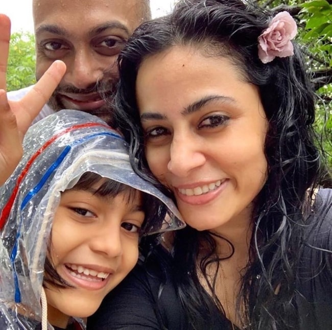 Antara Mali taking a break with her family in August 2019
