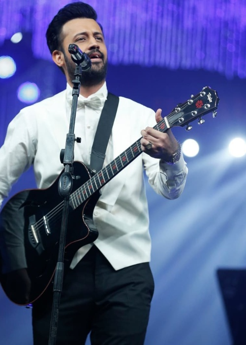 Atif Aslam at a live concert in 2019