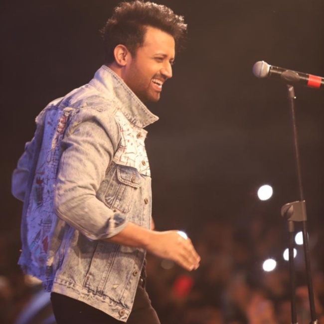 Atif Aslam during a performance in 2020