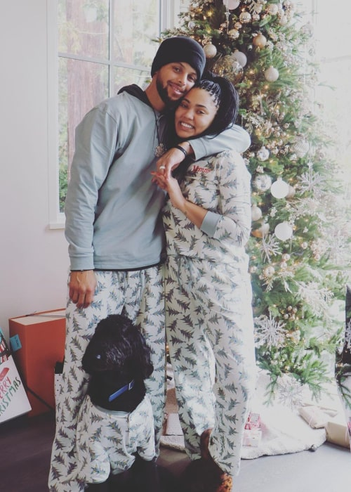 Ayesha Curry and Stephen Curry, as seen in December 2019