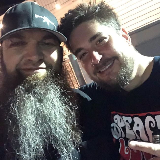 Barry and Shaun Foist of Breaking Benjamin as seen together in 2019