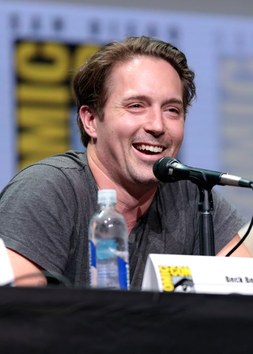 Beck Bennett pictured while speaking at the 2017 San Diego Comic Con International for 'Brigsby Bear' at the San Diego Convention Center in San Diego, California