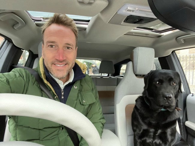 Ben Fogle with his dog as seen in March 2020