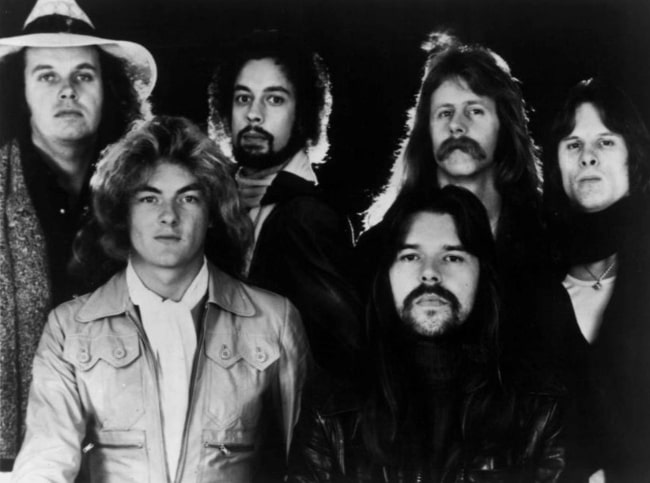 Bob Seger (Bottom Right) and the Silver Bullet Band in 1977