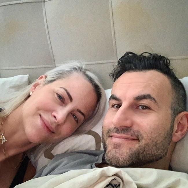 Brittany Daniel as seen in a selfie taken with her husband Adam Touni in March 2020