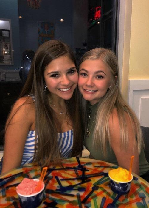 Brooklyn Davis (Right) and Emma Bebermeyer as seen in August 2019