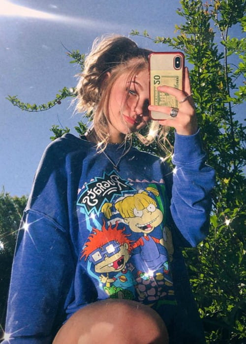 Brooklyn Davis in a selfie in April 2020