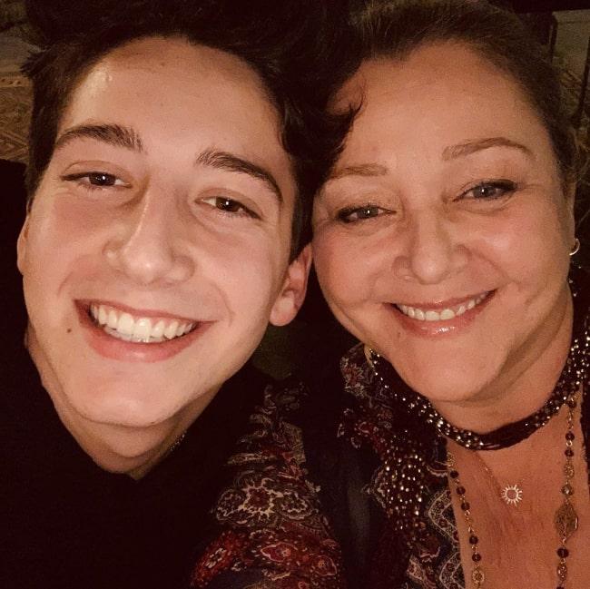 Camryn Manheim smiling in a selfie along with Milo Manheim in November 2019