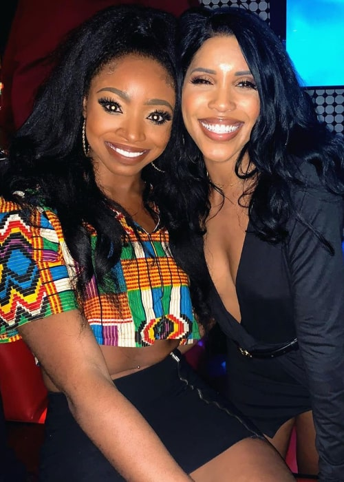 Candace Rice (Left) as seen while smiling in a picture alongside Jasmin Brown in November 2019