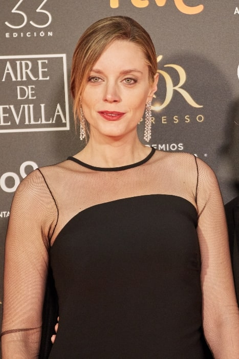 Carolina Bang as seen on the red carpet of the Goya Awards held in Seville in February 2019