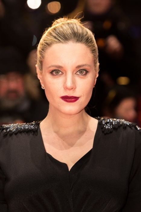 Carolina Bang pictured while presenting the movie 'The Bar' at the Berlinale 2017