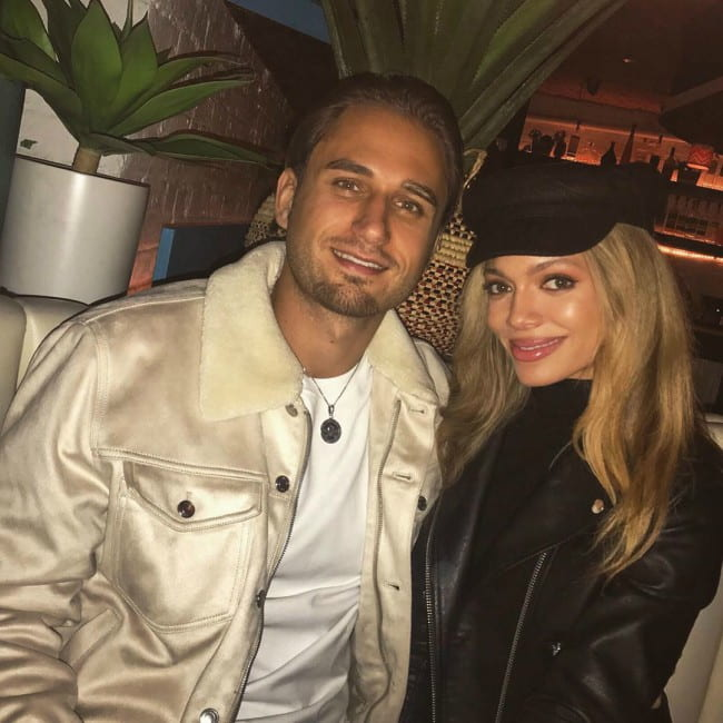 Charlie Clapham and Victoria DeBlauss as seen in October 2019