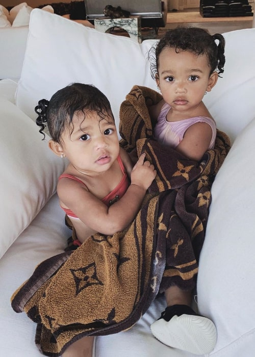 Chicago West (Right) as seen in a picture alongside her cousin Stormi