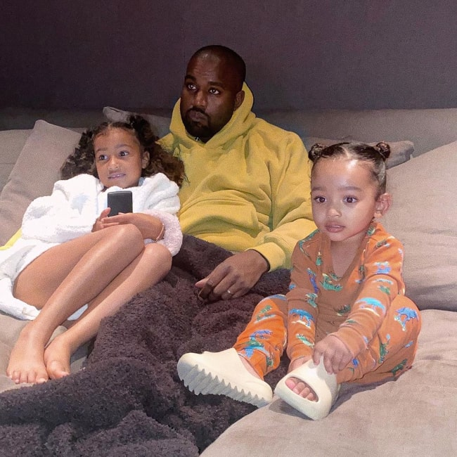 Chicago West (Right) enjoying her time with her father and older sister in May 2020