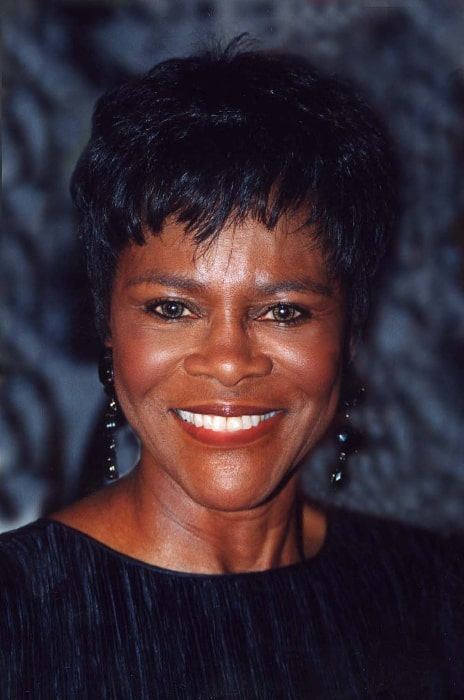 Cicely Tyson as seen while smiling for a picture at Lena Horne's 80th birthday party in June 1997