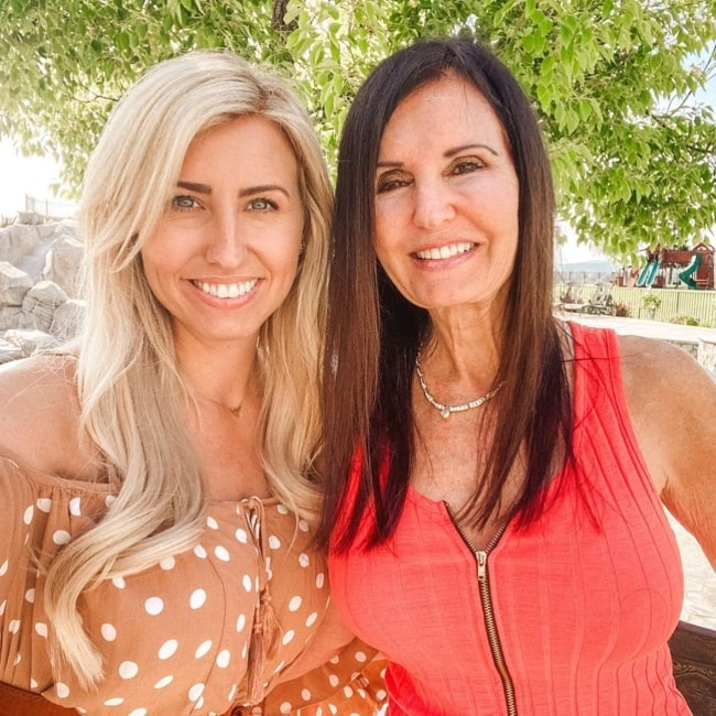 Courtney Force as seen in a picture taken with her mother Laurie Force in May 2020