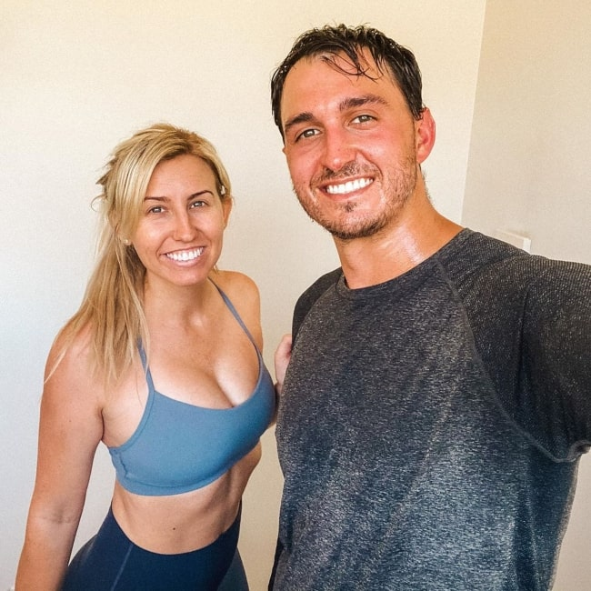 Courtney Force as seen in a selfie taken with her husband Graham Rahal in April 2020