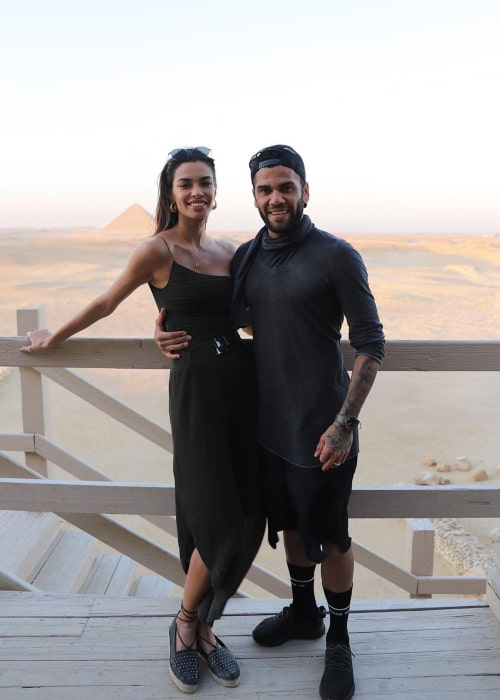 Dani Alves and Joana Sanz, as seen in January 2020