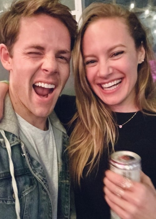 Danielle Savre as seen in a picture taken with actor Lachlan Buchanan in Los Angeles, California in May 2020