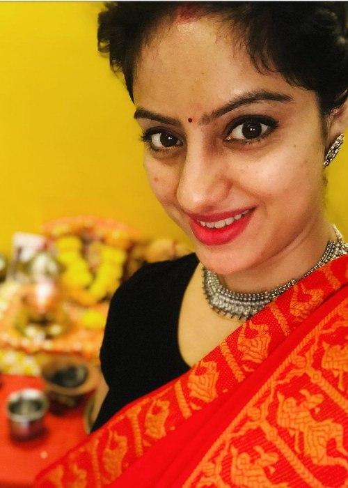 Deepika Singh in a selfie during Navratri 2020 (1)