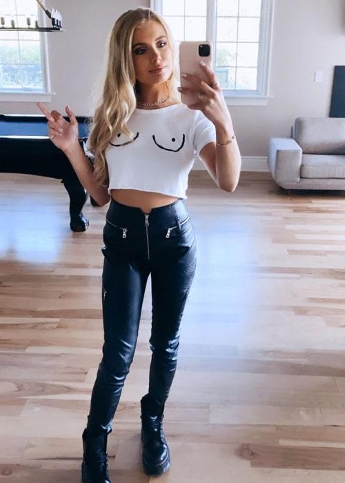 Demi Burnett as seen in a selfie that was taken in May 2020