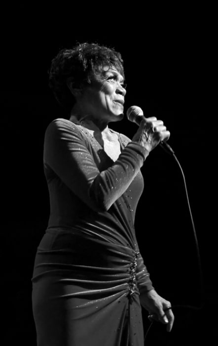 Eartha Kitt as seen while performing live in concert in 2007