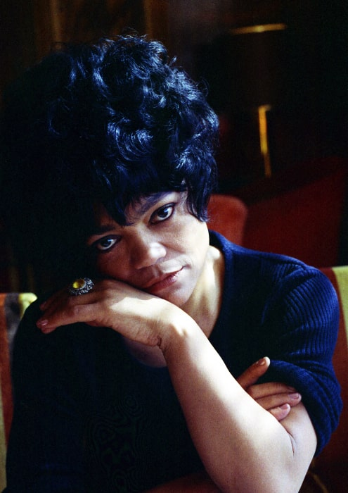 Eartha Kitt at the Carlton Tower hotel in London, England in 1973