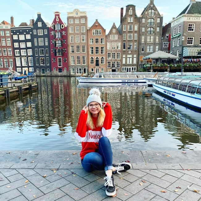 Elise Ecklund as seen while posing for a picture in Amsterdam, the Netherlands in December 2019