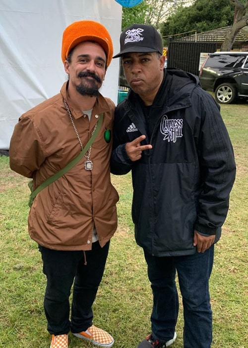 Eric Bobo Correa (Right) posing for a picture alongside Mariano Castro in May 2019