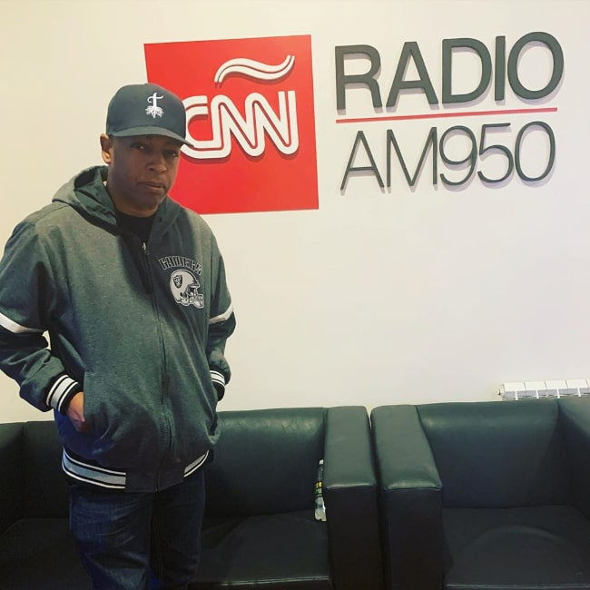 Eric Bobo Correa as seen while posing for a picture at CNN Radio Argentina in December 2019