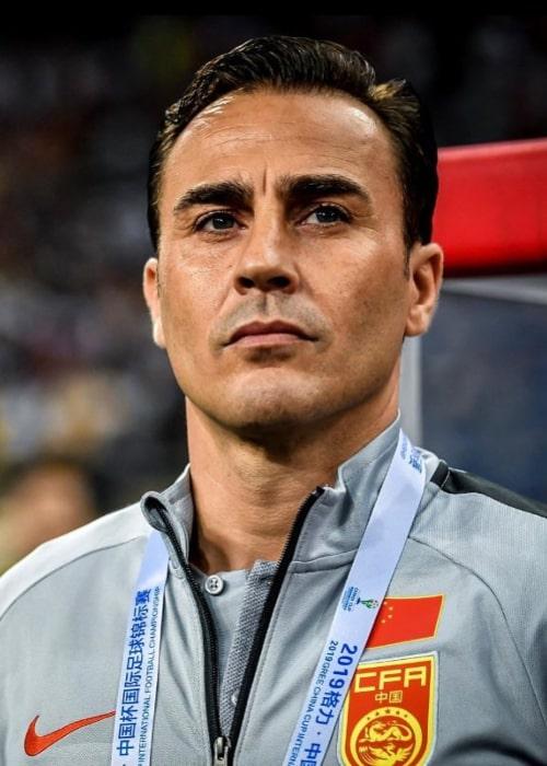 Fabio Cannavaro as seen in an Instagram Post in April 2019