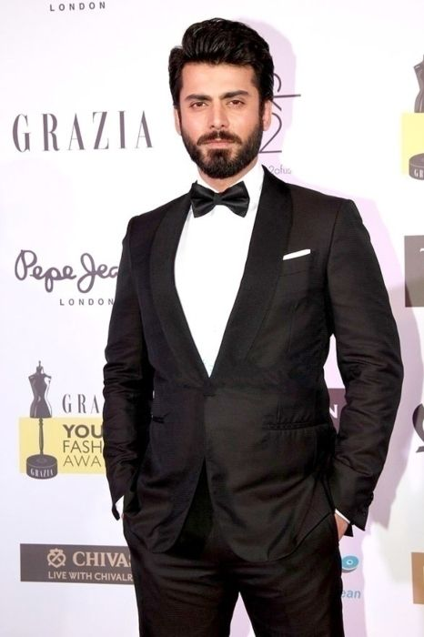 Fawad Khan posing at the red carpet of the Grazia Young Fashion Awards in 2016