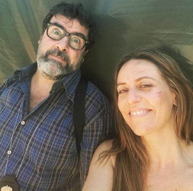 Fernando Soto as seen in a selfie along with Itziar Ituño in August 2019