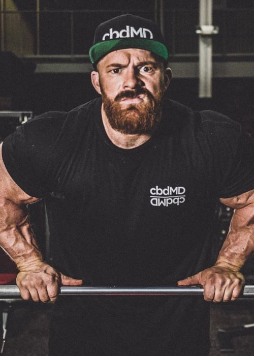 Flex Lewis as seen in an Instagram Post in February 2020
