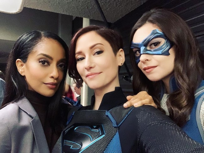 From Left to Right - Azie Tesfai, Chyler Leigh, and Nicole Maines in a selfie