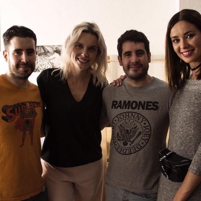 From Left to Right - Javi Prada, Carolina Bang, Kiko Prada, and Dafne Fernández in August 2017