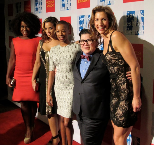 From Left to Right - Uzo Aduba, Dascha Polanco, Samira Wiley, Lea DeLaria, and Alysia Reiner from the show 'Orange Is the New Black' in November 2013