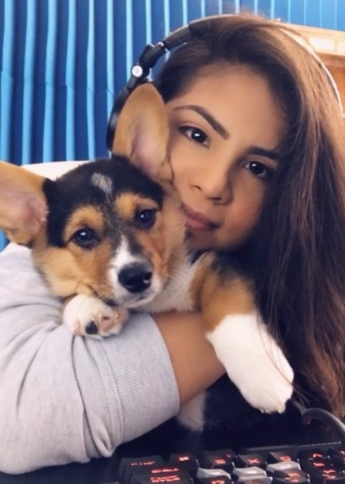 Goldy as seen in a picture taken with her dog in November 2018