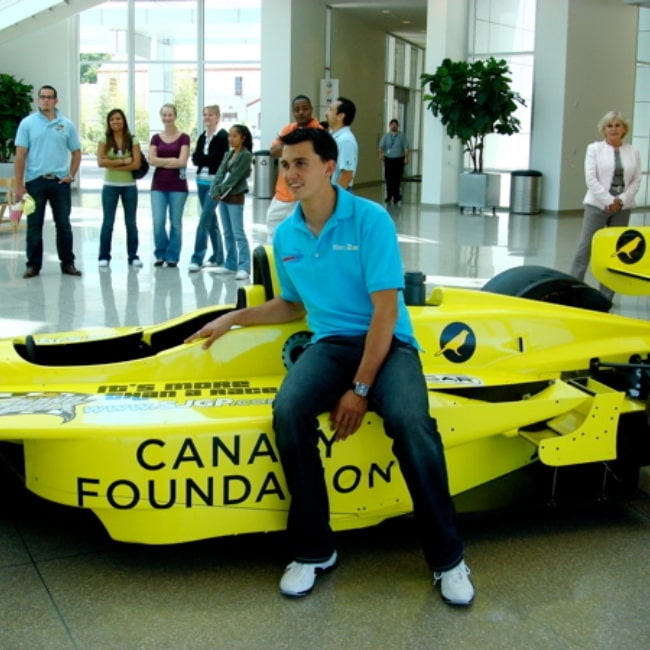 Graham Rahal as seen in a picture taken with his racecar on June 11, 2007