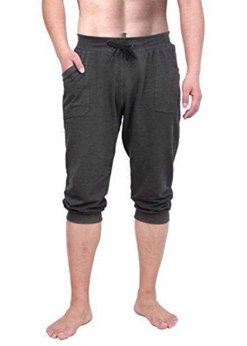 HDE Men's ¾ Yoga Capri Pants