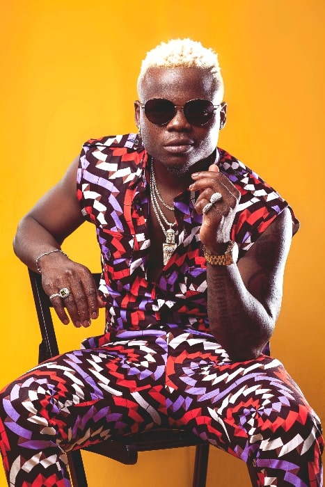 Harmonize as seen while posing for the camera in January 2018
