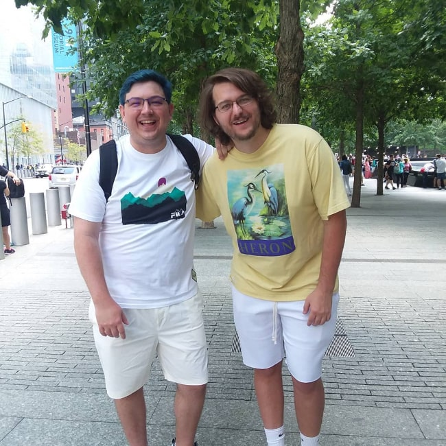 ImMarksman (Left) as seen in a picture along with Tyler in July 2019