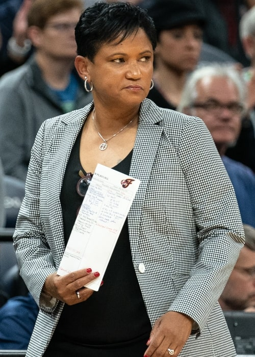 Indiana Fever coach Pokey Chatman during a game against the Minnesota Lynx in September 2019