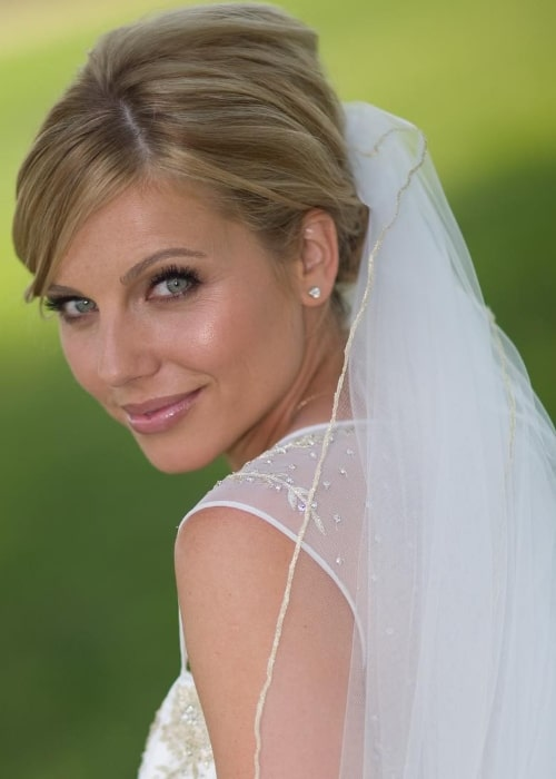 Ivana Božilović as seen in one of her wedding pictures