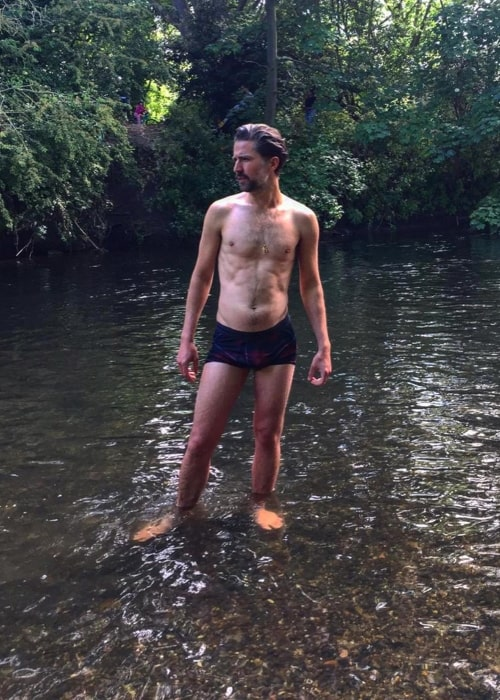 Jack Guinness as seen in a shirtless picture taken in May 2020