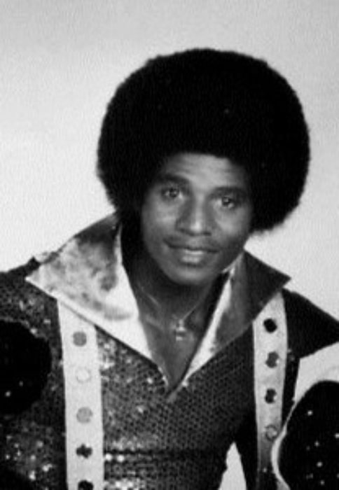 Jackie Jackson as seen in the publicity photo for The Jacksons television variety show in January 1977