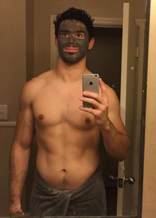 Jackson Beard as seen in a shirtless selfie taken in September 2018